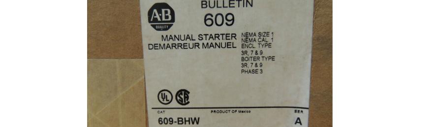 Allen-Bradley 609-BHW Manual Starting Switch - Intracom Distributor
